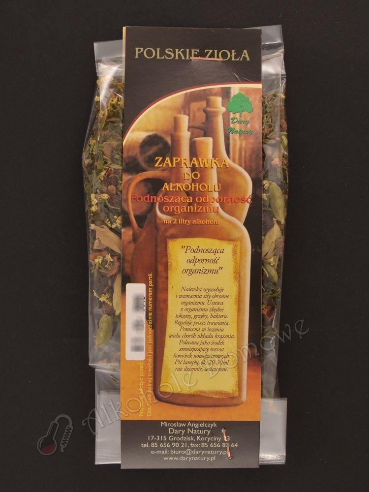 Nalewka wywołuje i wzmacnia siły obronne organizmu. Usuwa z organizmu zbędne toksyny, grzyby, bakterie.