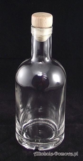 Niska, solidna butelka ozdobna do nalewek.