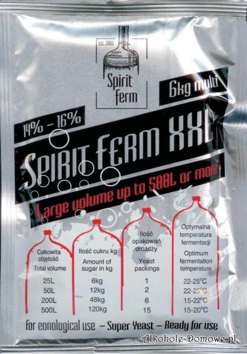 Drożdże Spiritferm XXL przeznaczone do łączenia w duże nastawy: