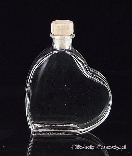 Mała butelka w kształcie serca, świetna na walentynki i nie tylko!