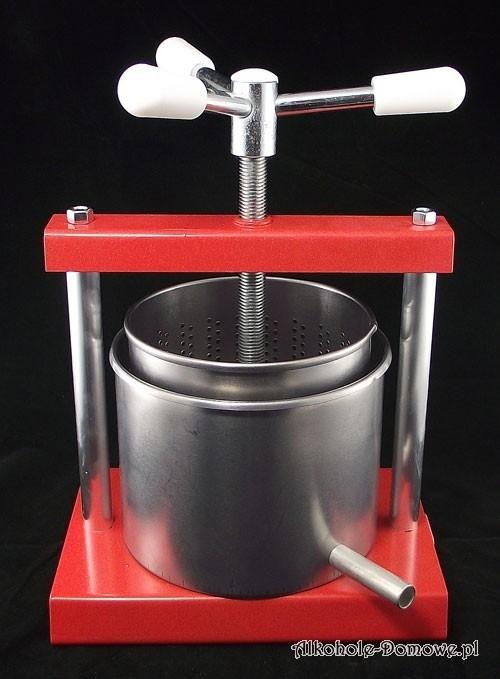 Prosta i użyteczna prasa do owoców do domowego użytku. Dzięki niej samodzielnie w krótkim czasie przygotujesz naturalny sok z owoców.
