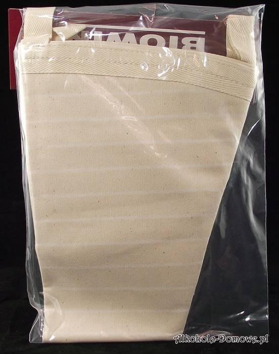 Worek filtracyjny wykonany jest czystej, surowej bawełny, która nie wpływa w żaden sposób na smak wina czy nalewek.
