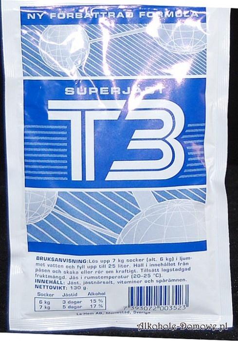 Drożdże aktywne T3, Doskonałe drożdże do fermentacji, zawierają wszelkie niezbędne składniki i mikroelementy.