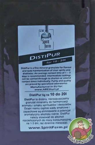 DistiPur to drobny granulat mineralny do harmonizacji aromatu i smaku klarownych spirytualiów i destylatów. Zastosowanie DistiPur pozwala na pełne wykorzystanie potencjału aromatycznego tych produktów.