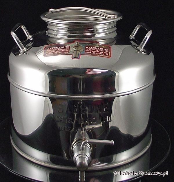 Wysokiej jakości włoska bańka-beczka-pojemnik do przechowywania płynnych produktów spożywczych.