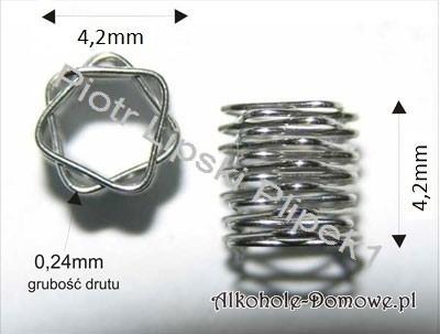 Sprężynki pryzmatyczne ze stali kwasoodpornej AISI 304