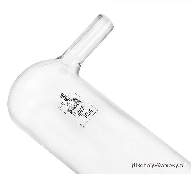 Wysokiej jakości deflegmator szklany wykonany z grubego borokrzemowego szkła.