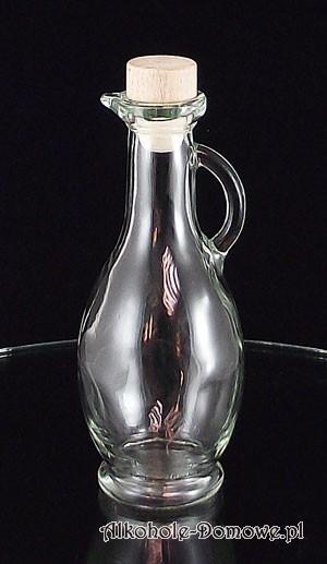 Ozdobna średnia butelka do nalewek, oliwy lub octu.