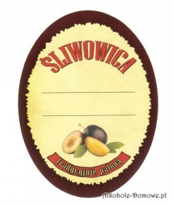 Etykieta do butelek Śliwowica Domowa (397) owalna
