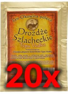 Drożdże Szlach.Vodka-kpl.20 sztuk