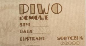 Etykieta 336 Old Piwo Domowe 45x80
