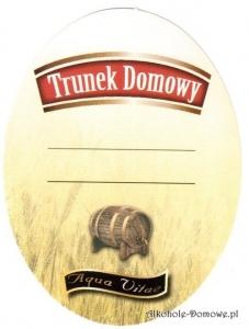 Etykieta do butelek Trunek Domowy Aqua Vitae (398) owalna