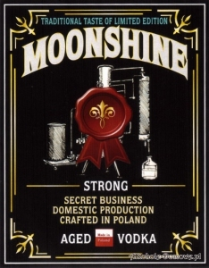 Etykieta do butelek Moonshine Strong Aged Vodka (nr 363)