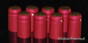 Kapturki termokurczliwe czerwone 20 sztuk