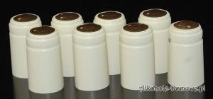 Kapturki termokurczliwe kremowe 20 sztuk