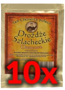 Drożdże Szlacheckie Owocowe-Pakiet 10 sztuk
