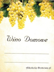 Etykieta do wina domowego winogrona białe (nr 383)