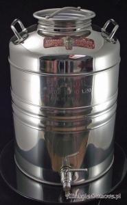 Pojemnik-beczka-bańka INOX 75 l z kranem