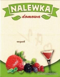 Etykieta na butelkę do nalewki owocowej (nr 372)