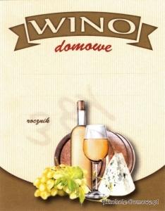 Etykieta na wino domowe czerwone (nr 380)