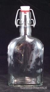 Butelka piersiówka 350 ml z porcelanowym zamknięciem