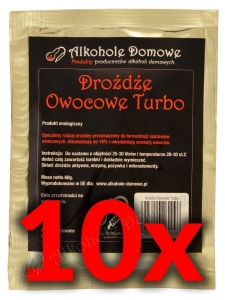 AD Drożdże Owocowe Turbo - Pakiet 10 sztuk