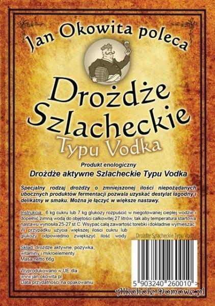 Drożdże Szlacheckie Vodka-komplet 20 sztuk