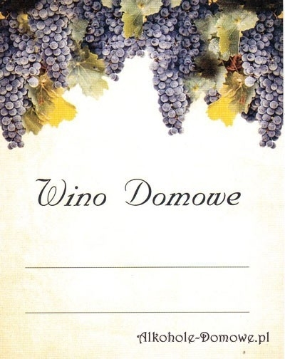 Etykieta do wina domowego winogrona ciemne (nr 384)