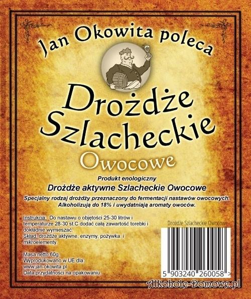 Drożdże Szlacheckie Owocowe - Jan Okowita Poleca