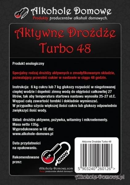 AD Aktywne Drożdże Turbo 48 - pakiet 20 sztuk