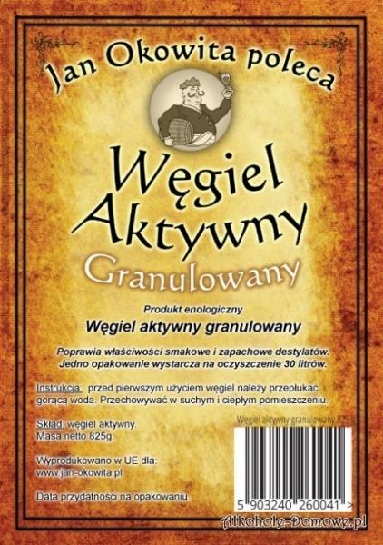 Węgiel Aktywny Granulowany 1,7 litra - Jan Okowita