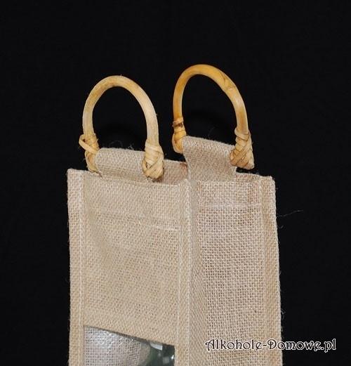 Ozdobna torebka z juty z okienkiem (naturalna)