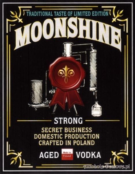 Etykieta do butelek Moonshine Strong Aged Vodka (nr 363)