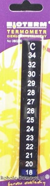 Termometr ciekłokrystaliczny LCD na fermentor