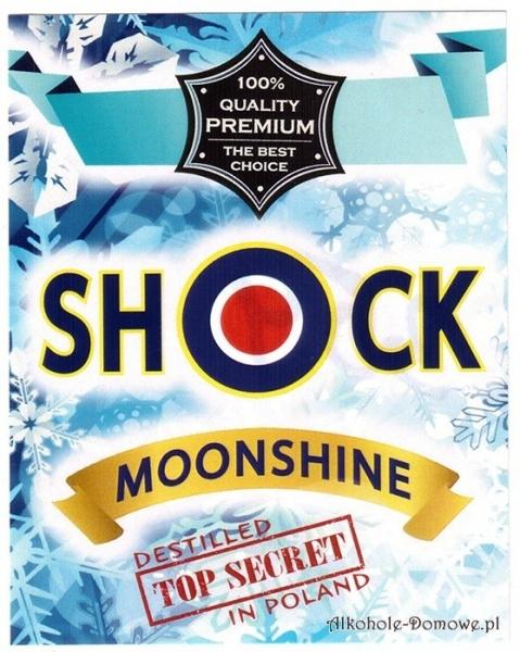 Etykieta do butelek Shock Moonshine (nr 359)