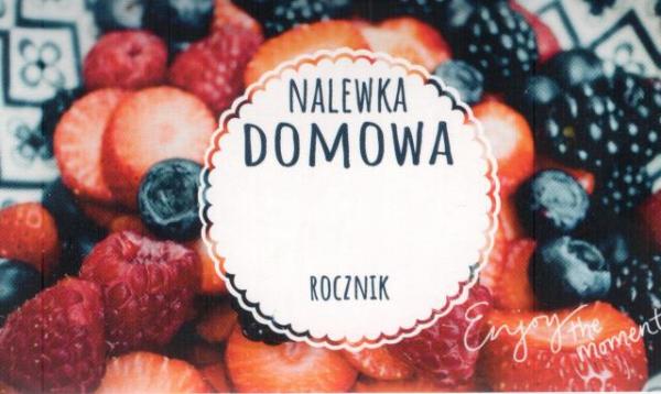 Etykieta 341 nalewka owoce leśne 45x80