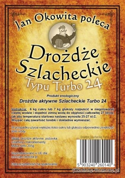 Drożdże Szlacheckie Turbo 24 - Jan Okowita