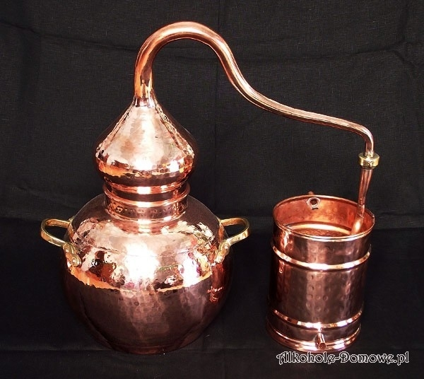 Alembik Miedziany - Łabędzia szyja - 3 litry (1016)