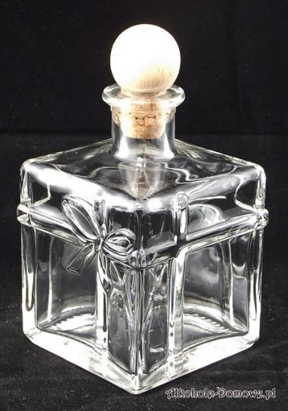 Butelka karafka Prezent (Paket)350 ml + korek
