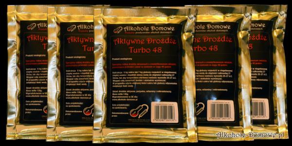 AD Aktywne Drożdże Turbo 48 - pakiet 5 sztuk