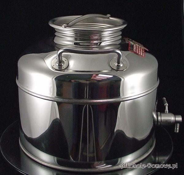 Pojemnik-beczka-bańka INOX 10 l z kranem