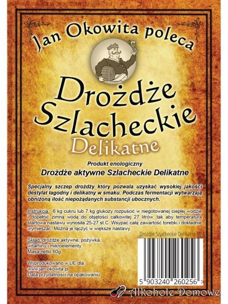 Drożdże Szlacheckie Delikatne 60 g - Jan Okowita Poleca