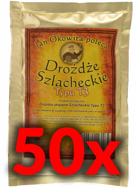 Pakiet 50 szt.Drożdże Szlacheckie T3 + wysyłka gratis
