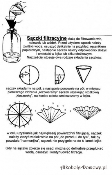 Sączki filtracyjne 24 cm - 10 szt
