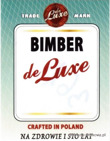 Etykieta do butelek Bimber de Luxe (nr 361)