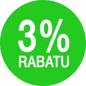 rabat 3%
